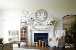 Easy Fall Themed Mantle | Design Dazzle
