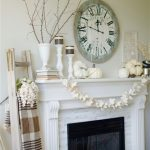 Easy Fall Themed Mantel
