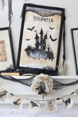 5 Minute Halloween Mantel