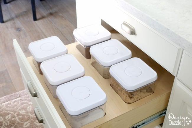 kitchen storage drawer for baking   Design Dazzle