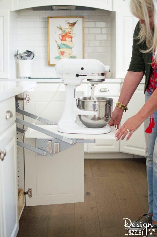 Kitchen Aid Storage Design Dazzle