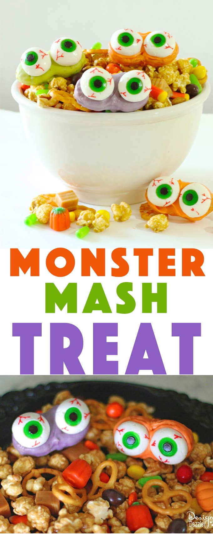 Easy peasy Halloween treat kids will love to make   monster mash halloween treat   halloween snack recipes   halloween treat recipes   how to make monster mash   kid friendly halloween recipes   halloween recipe ideas    Design Dazzle