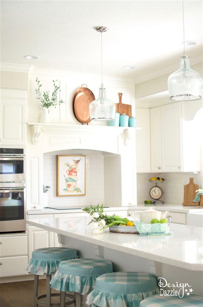 White kitchen remodel by Design Dazzle