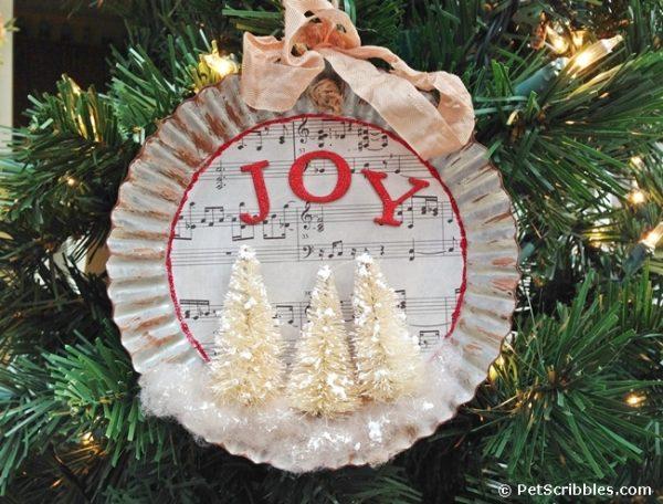 How to make a charming tart tin ornament