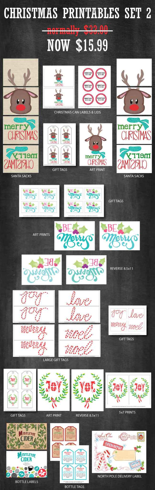Christmas Printables Set | printables for Christmas | Christmas fun | Christmas decor | decorating for Christmas || Design Dazzle #christmasprintables