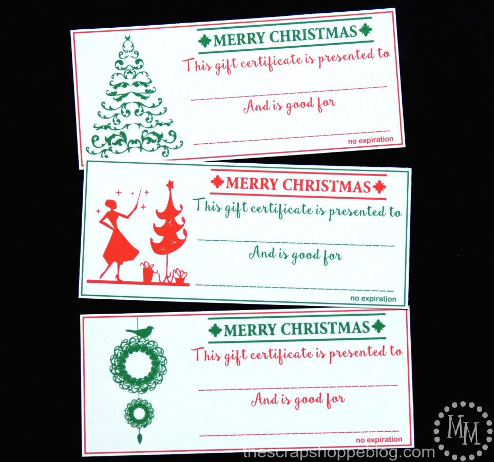 Christmas Gift Certificates Design Dazzle