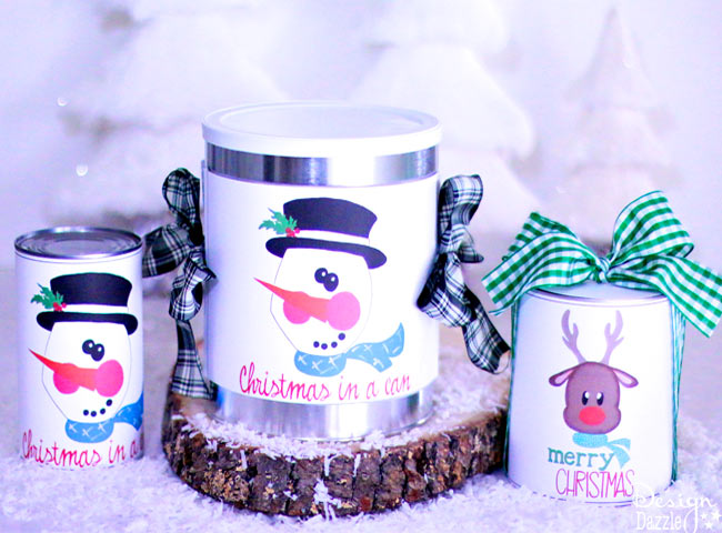 Christmas in a can - a fun way to give a gift! | Design Dazzle
