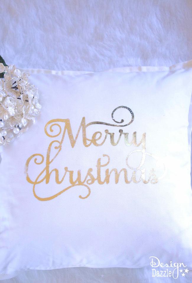 Deco Foil Pillow tutorial