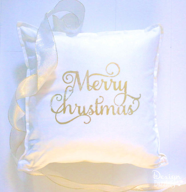 Diy Christmas Pillow Covers With Deco Foil Design Dazzle
