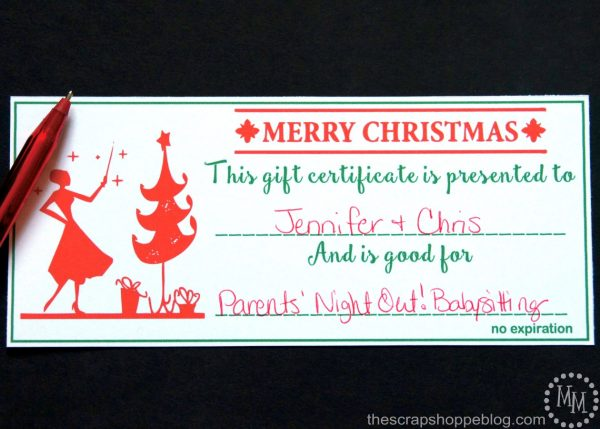 Need a last minute Christmas gift idea with meaning? Try these printable Christmas gift certificates!