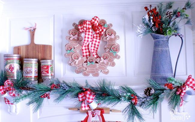 Charmant Gingerbread Man Wreath Made With Foam | Christmas Wreath Ideas | Christmas  Crafts | Diy Christmas