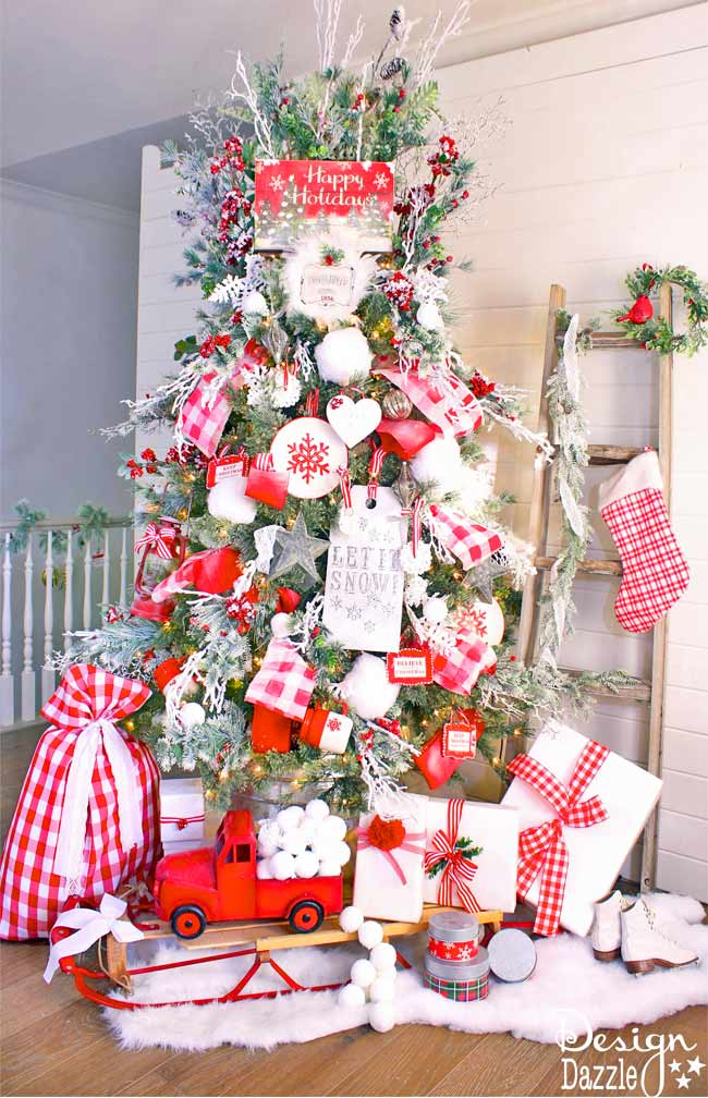 Mrs. Claus Cottage Tree by Toni of Design Dazzle