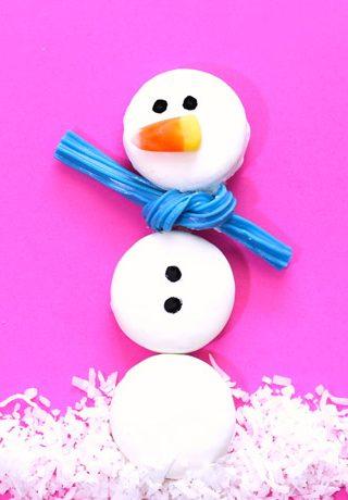 Edible Oreo Snowman