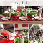 Red Truck Christmas Party Table