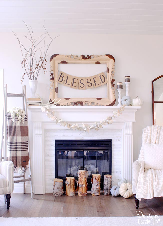 Thanksgiving Mantle by Design Dazzle!