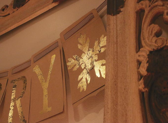 Tips on how to create a Gold Foil banner using an iron | Design Dazzle
