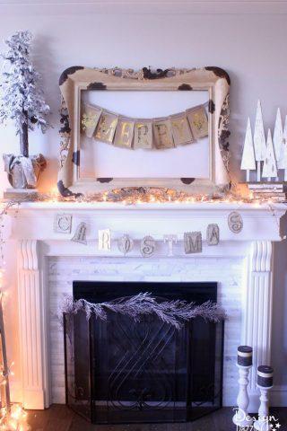 Gold Foil Christmas Banner