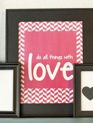9 Fantastic Free Valentine's Decor Printables