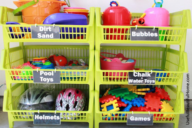 Keeping kids' toys organized can be so hard! So I have round up 9 amazing ideas to help you figure out what to do with every single toy in your house! | Design Dazzle
