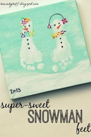10 Adorable Snowman Crafts