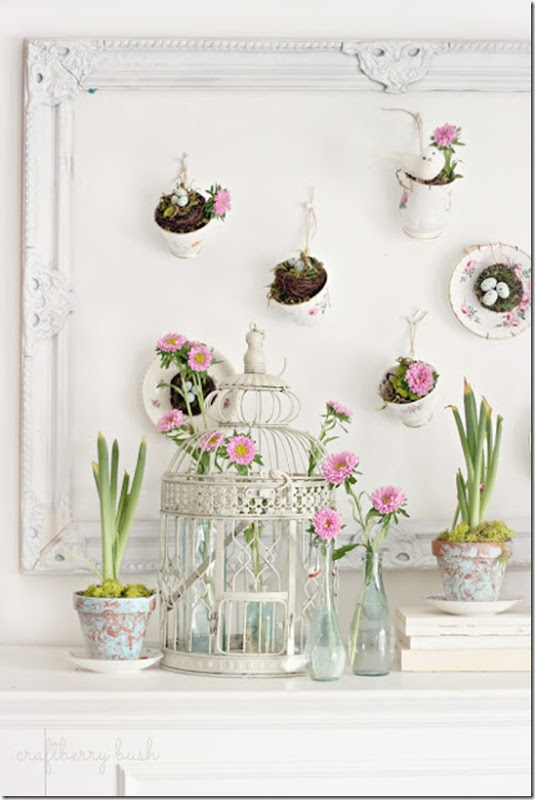 13 of my favorite Spring mantel ideas that will work for any number of different tastes and styles! | Design Dazzle
