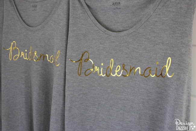 DIY Gold Foil Bridal T-Shirts Using The Cricut | Design Dazzle