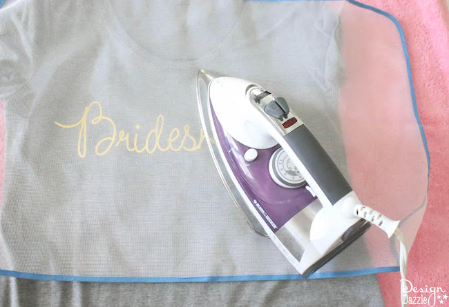 DIY Gold Foil Bridal T-Shirts Using The Cricut   Design Dazzle
