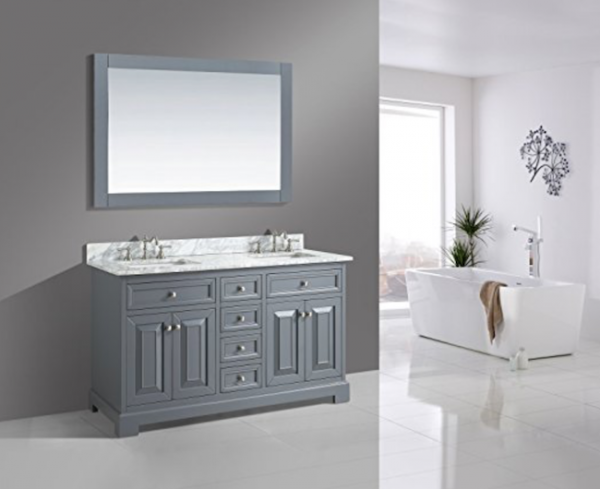 Fabulous This post includes trendy stylish and fun bathroom vanities of many different sizes Rochelle u Bathroom Sink Vanity