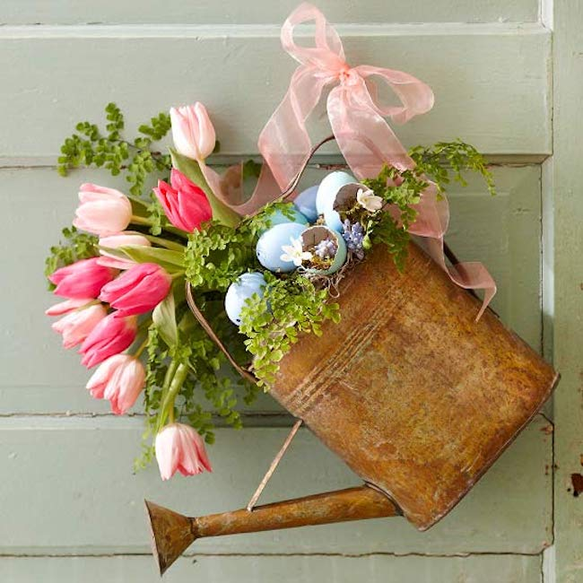 All 13 of these spectacular spring wreaths are simple to create, fun, creative, and will leave you with a gorgeous looking front door! | Design Dazzle