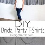 DIY Gold Foil Bridal T-Shirts Using The Cricut