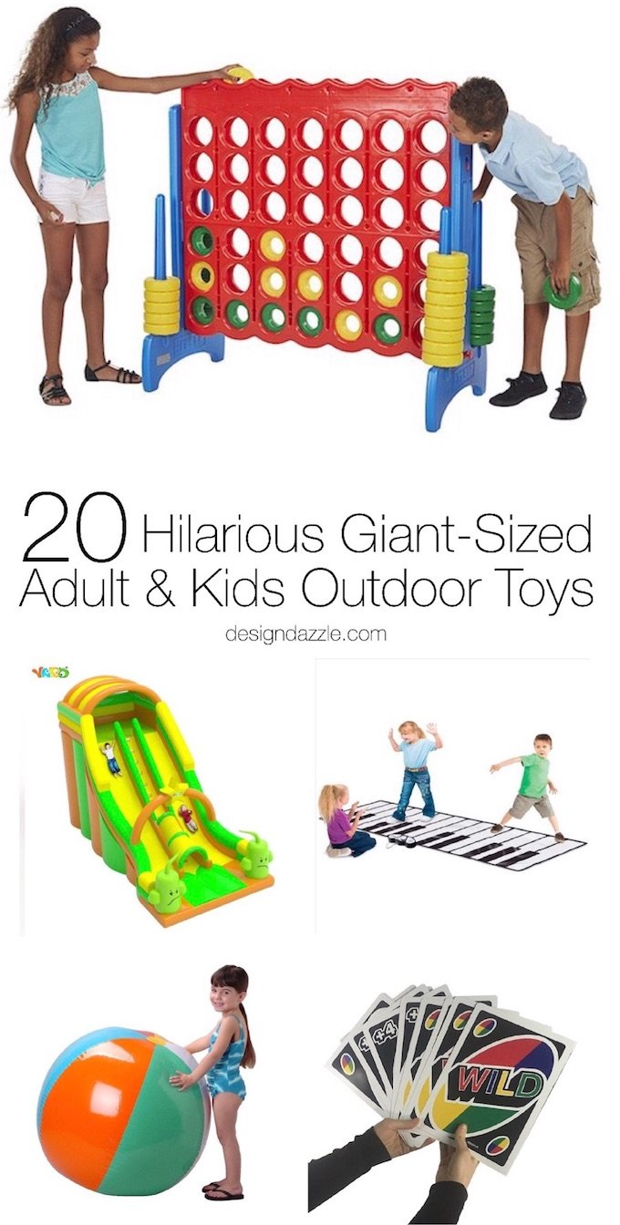 You can easily take an outdoor party from drab to fab with these 20 hilarious giant-sized adult and kids outdoor toys! | Design Dazzle