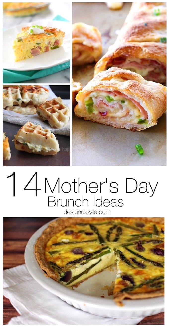 14 Mother's Day Brunch Ideas to celebrate mothers. Delicious recipes make for the perfect Mother's Day gift! | Design Dazzle