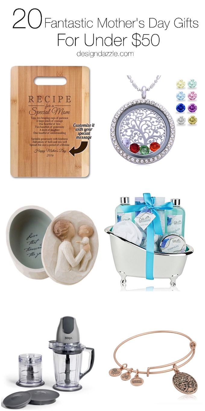 20 Mother's Day Gifts under $50! Fantastic Mother's Day ideas to celebrate mom! | Design Dazzle