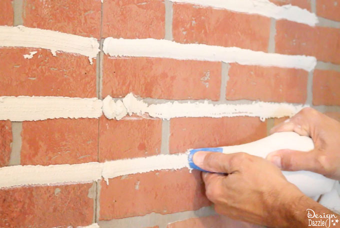 How to grout fake brick | Design Dazzle
