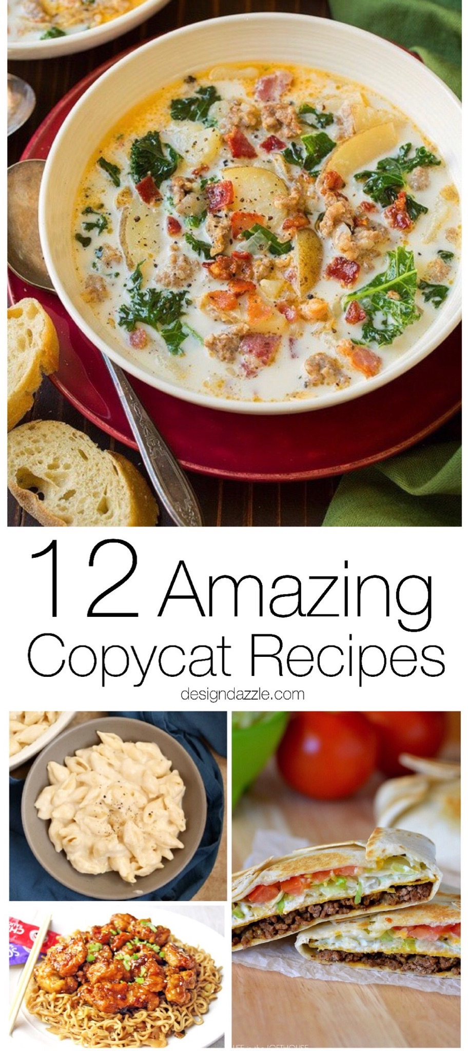 Thanks to these 12 delicious copycat recipes, you can recreate some of your favorite restaurant dishes right in the comfort of your own home!   Design Dazzle