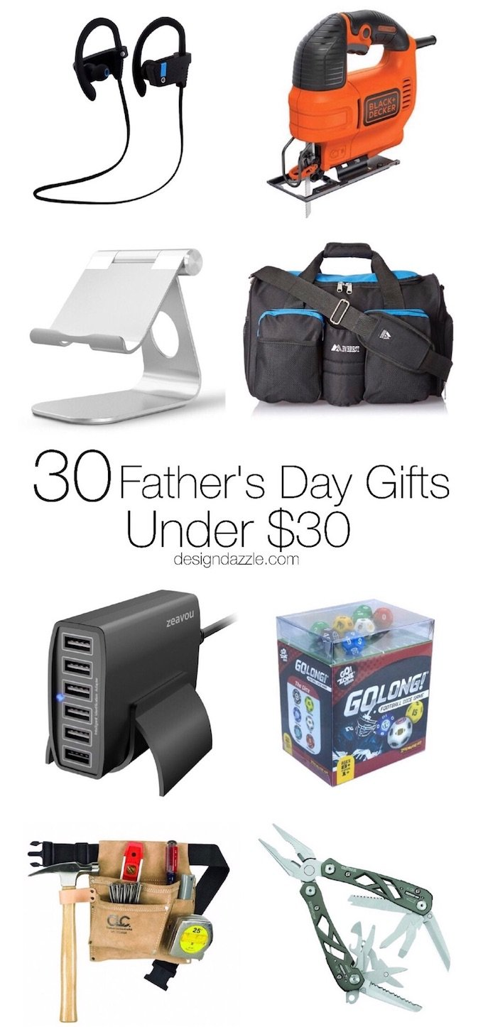 Whether he's a sporty dad or a tech-loving dad, this post has a little bit of everything for every type of dad on Father's Day! Plus, every single awesome gift in this post is under $30! | Design Dazzle