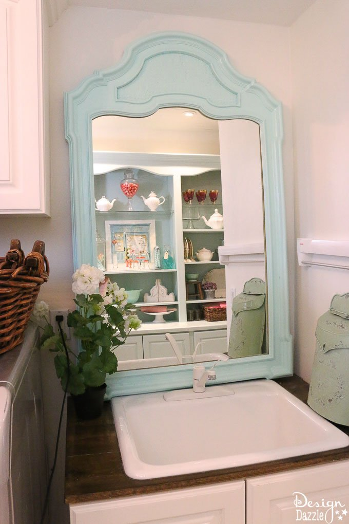 This post shows how I decorated with functional, practical, and organized decor in my Laundry Pantry Room combo. An organized laundry room is so important! | Design Dazzle
