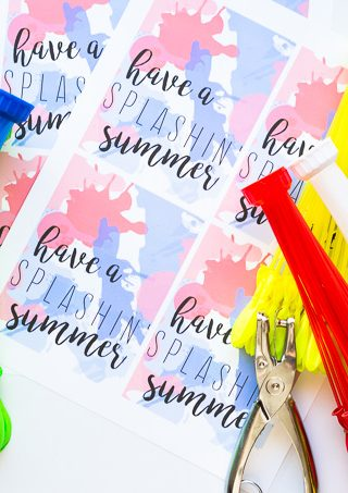 Water Balloon Gift Idea- Free Printable