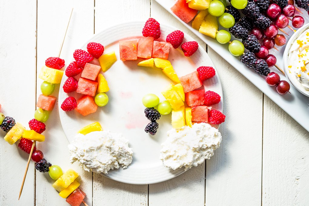 Fruit kabobs are a fun DIY project for the kids during Summer break!