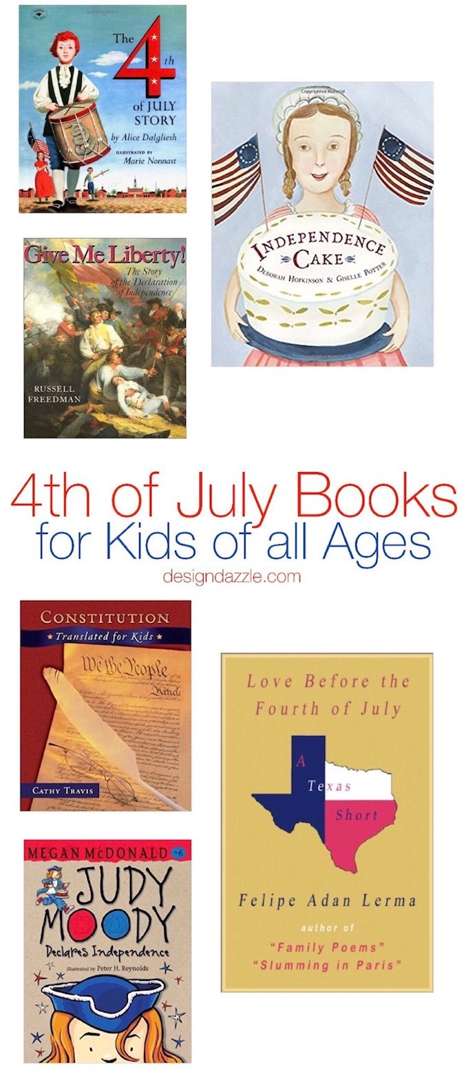 15 different 4th of July themed books for kids of all ages - young children all the way to teenagers! | Design Dazzle