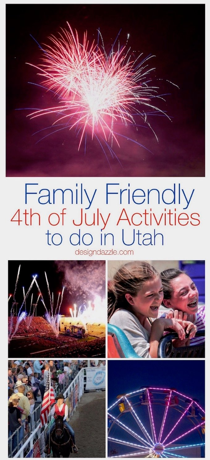 This post has 12 of my absolute favorite family friendly 4th of July activities to do in Utah. Some of them are even completely free! | Design Dazzle