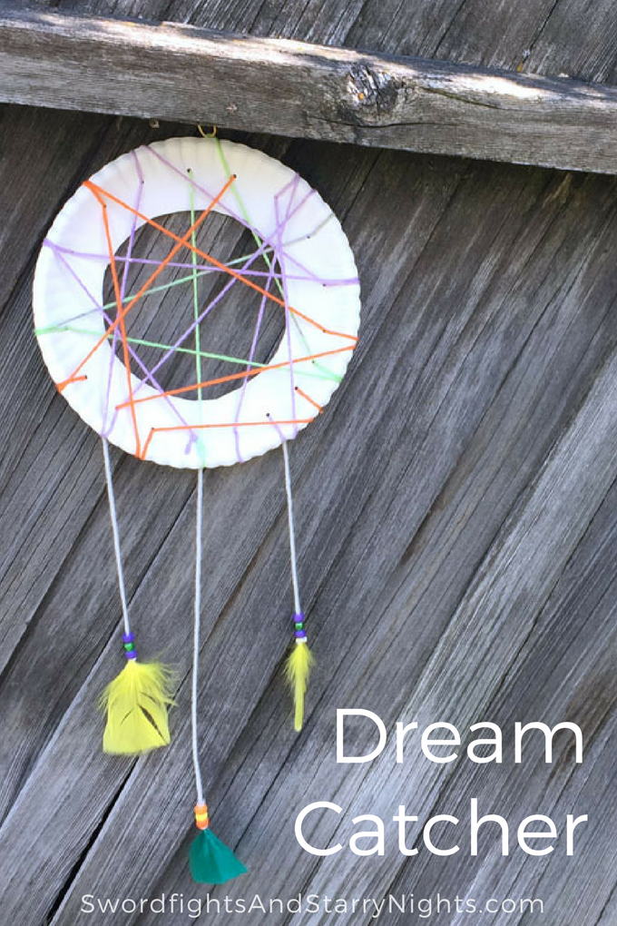 Making a dream catcher is a fun project for both kids and adults!