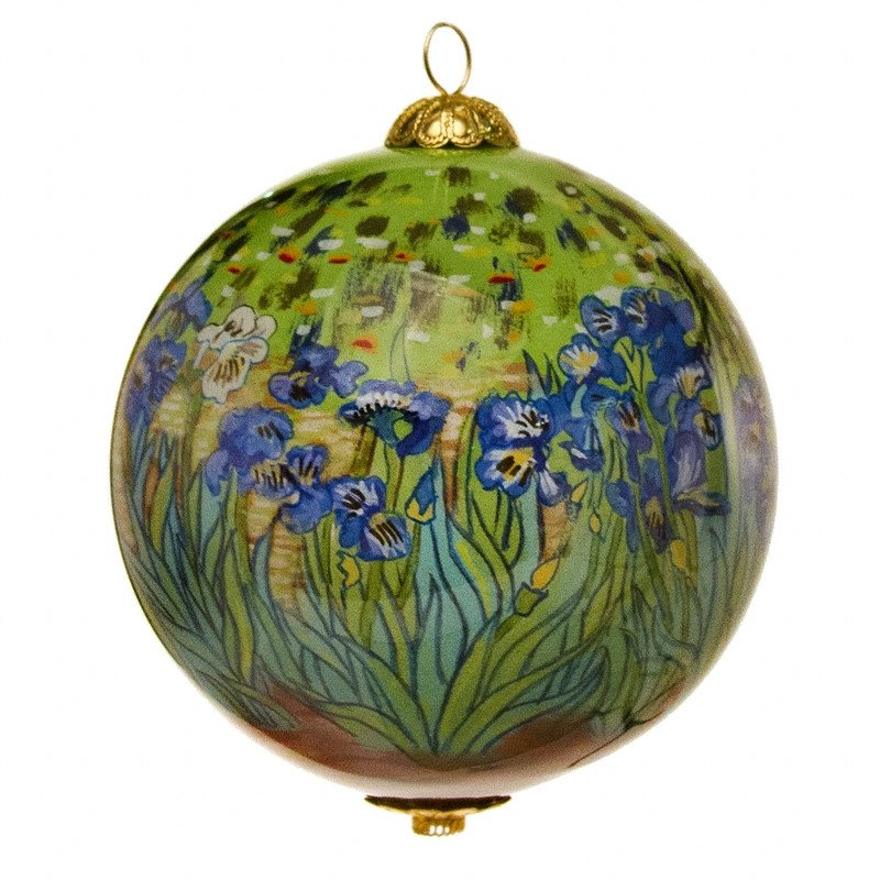 The Getty Irises Christmas Ornament