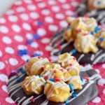 Patriotic Chocolate Popcorn Puddles