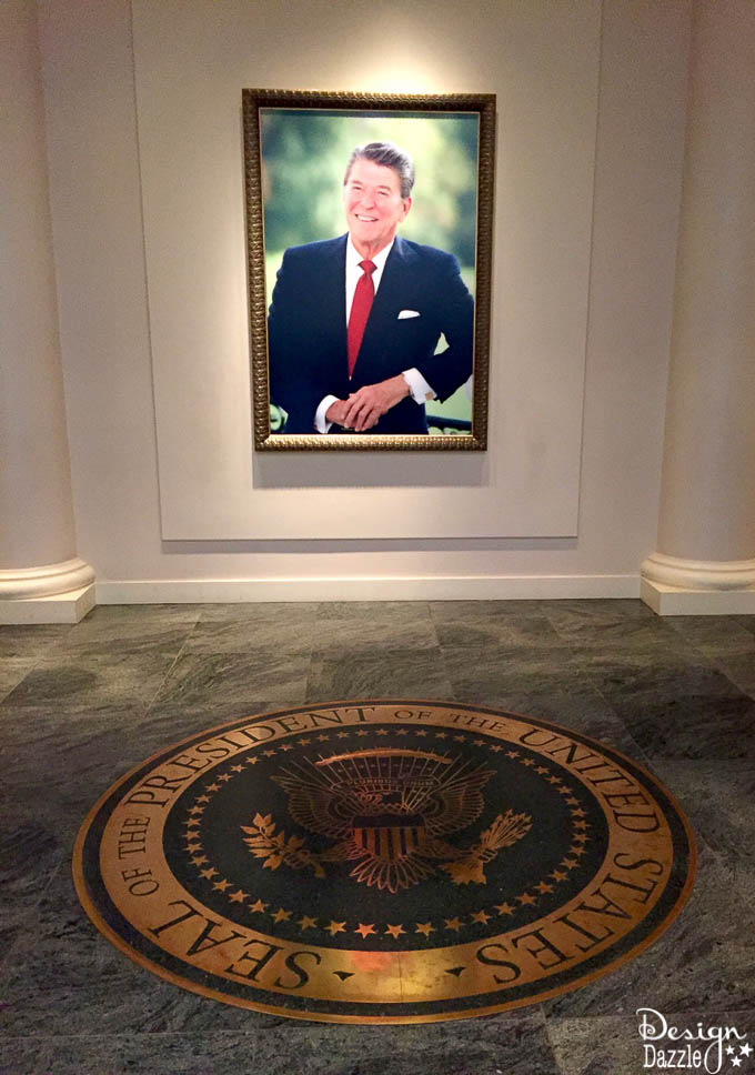 Come along with DesignDazzle to the Ronald Reagan Library!