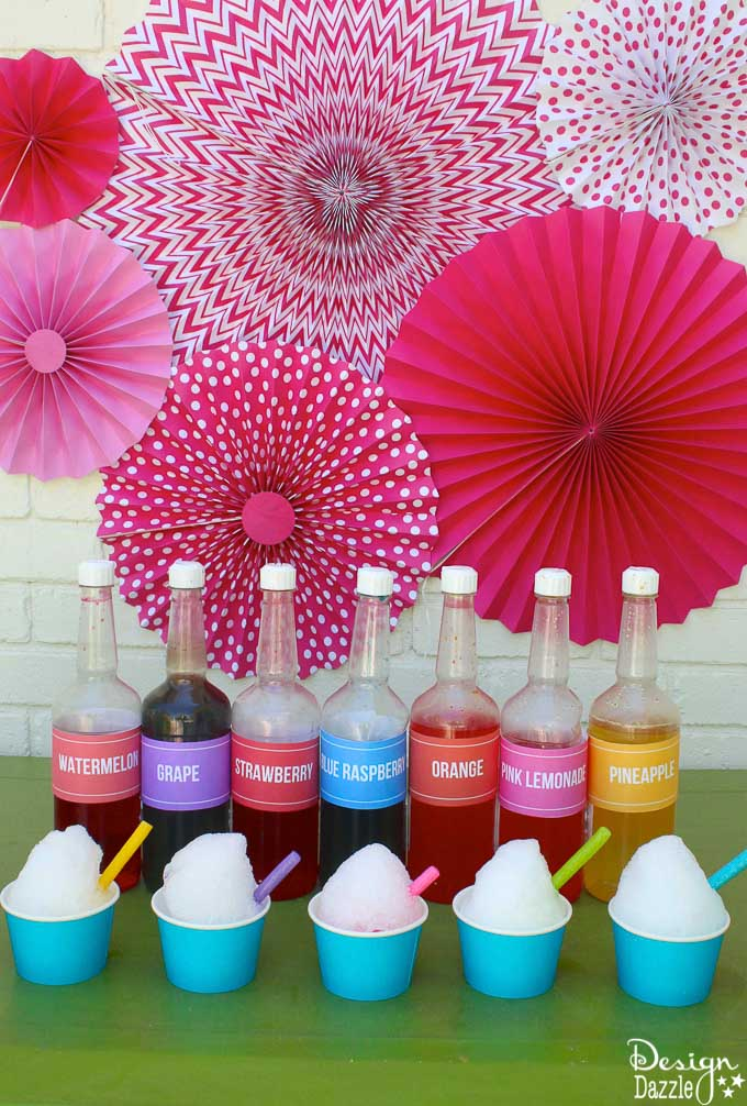 How to make shaved ice - tips and tricks with free printables   Design Dazzle
