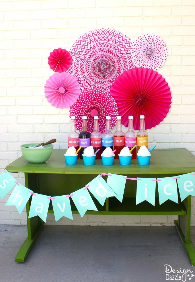 How to make shaved ice - tips and tricks with free printables | Design Dazzle