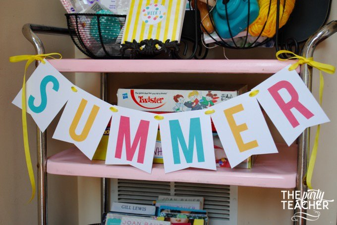 This post shares 8 fantastic weeks of summer fun for kids. I know I'll need every idea I can find to keep my kids entertained this summer! | The Party Teacher