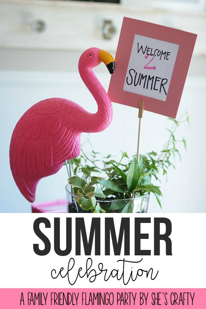 Family Friendly Flamingo party by She's Crafty
