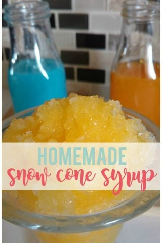 Homemade Snow Cone Syrup